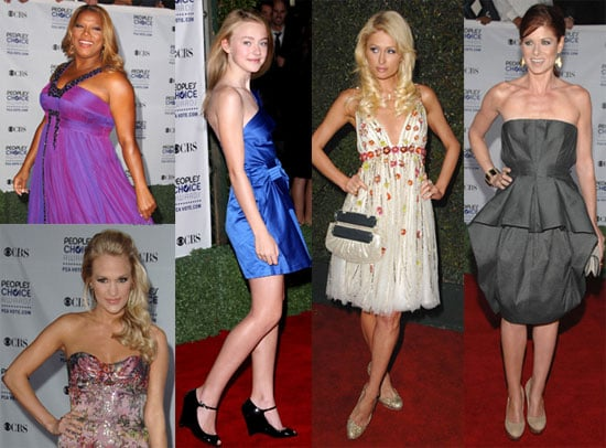 2009 People's Choice Awards Red Carpet Photos of Paris Hilton, Dakota Fanning, Queen Latifah, Carrie Underwood and More