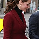 Kate Middleton Wearing Black Velvet Hair Bow