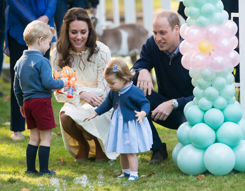 When George Amused Charlotte With Bubbles