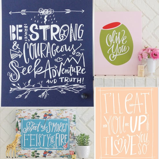 Line We Love: Lindsay Letters' Kid Prints and Baby Shower Goods