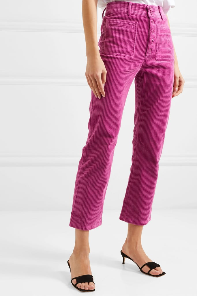 APIECE APART Marston cropped stretch-cotton corduroy slim-leg pants