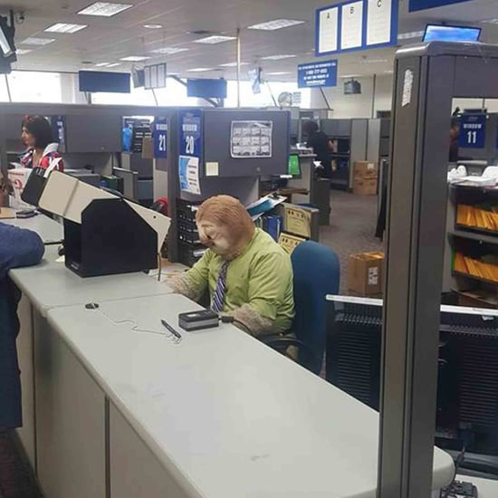 Person Wears Sloth Costume to the DMV