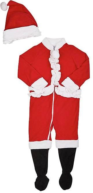 89f092837d2b Sara s Prints Holiday Fleece Footed Pajamas   Hat
