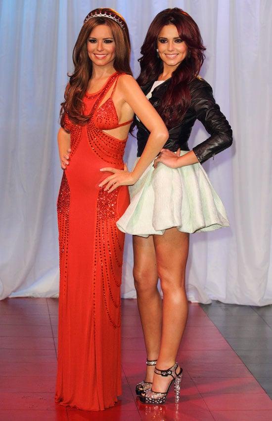 Cheryl Cole Posing With Her Wax Figure