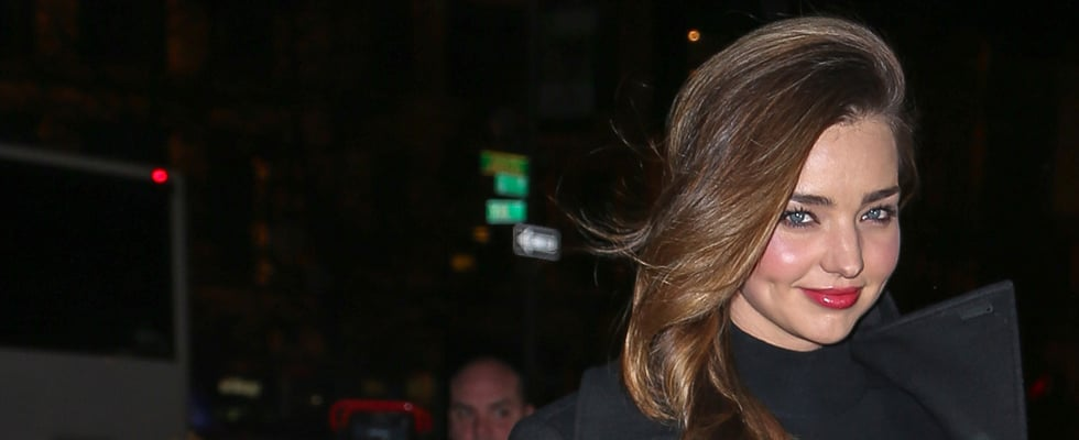 Cold in New York? Not if You're Miranda Kerr!
