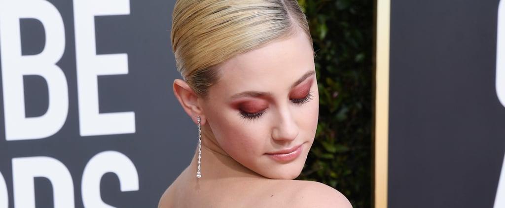Lili Reinhart Golden Globes Red Makeup 2018