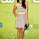Not one to shy away from color, Nina showed off her neon side in Jay Godfrey at The CW's 2011 upfronts.