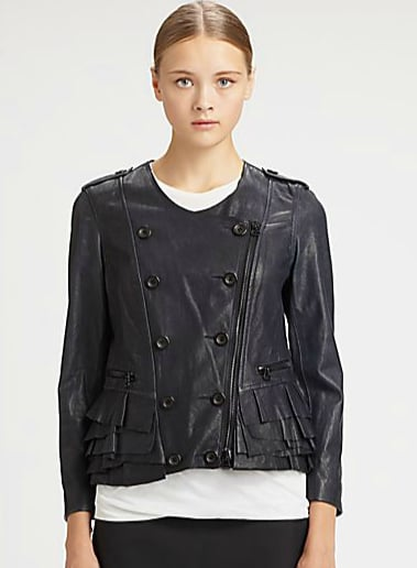 A ruffled leather jacket? Yes! We love the juxtaposition of this 3.1 Phillip Lim leather ruffle jacket ($1,350). Part tough, part femme, all fabulous.