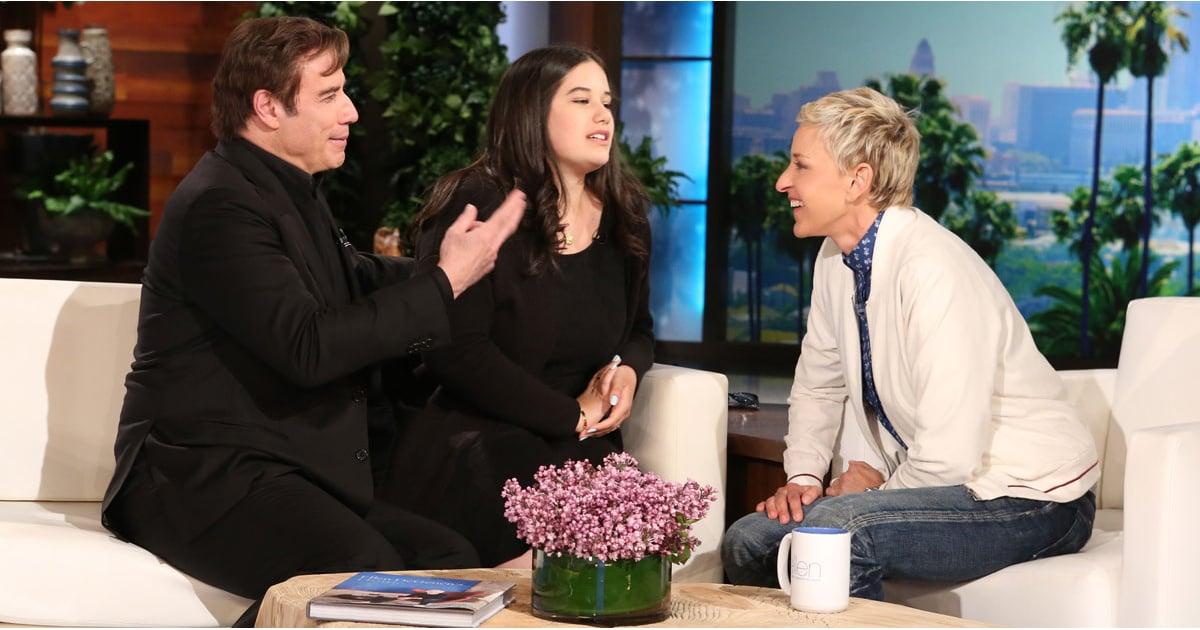 ... Travolta and Daughter Ella on The Ellen Show 2016   POPSUGAR Celebrity