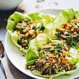 Chicken Lettuce Wraps With Ginger-Garlic Sauce and Peanuts