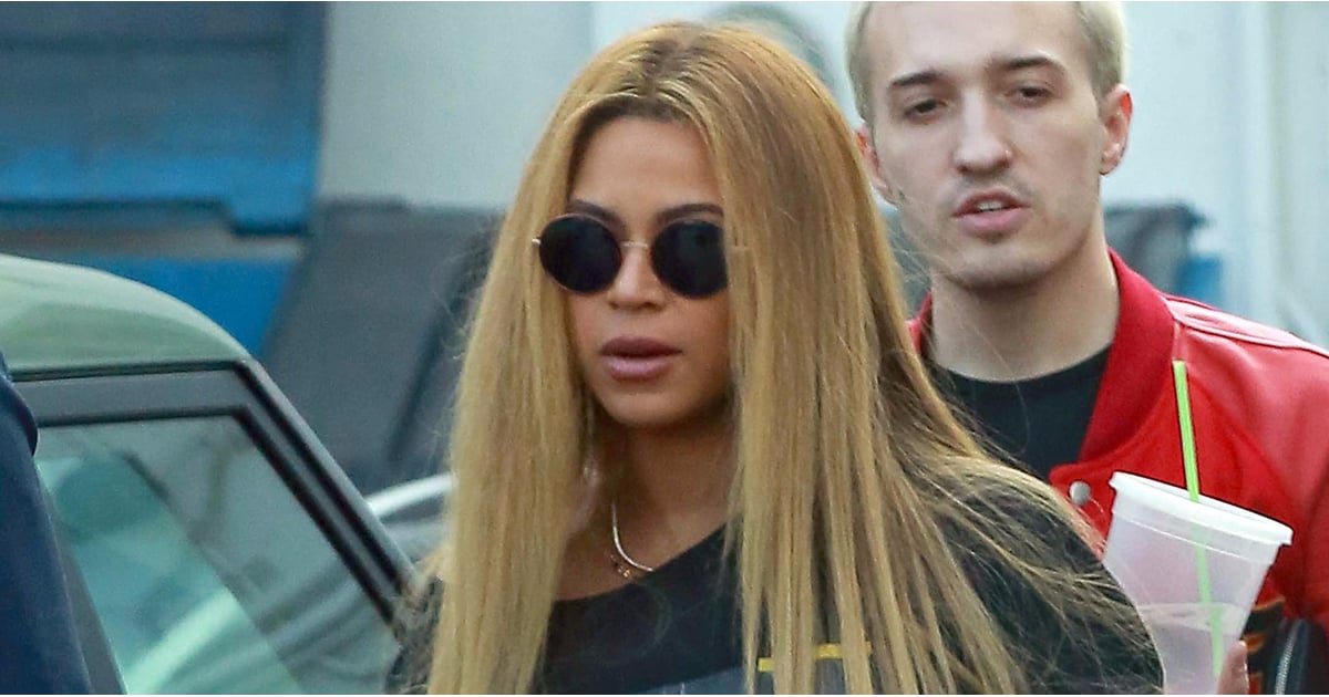 Beyoncé Sweetly Cradles Her Baby Bump During an LA Shopping Trip