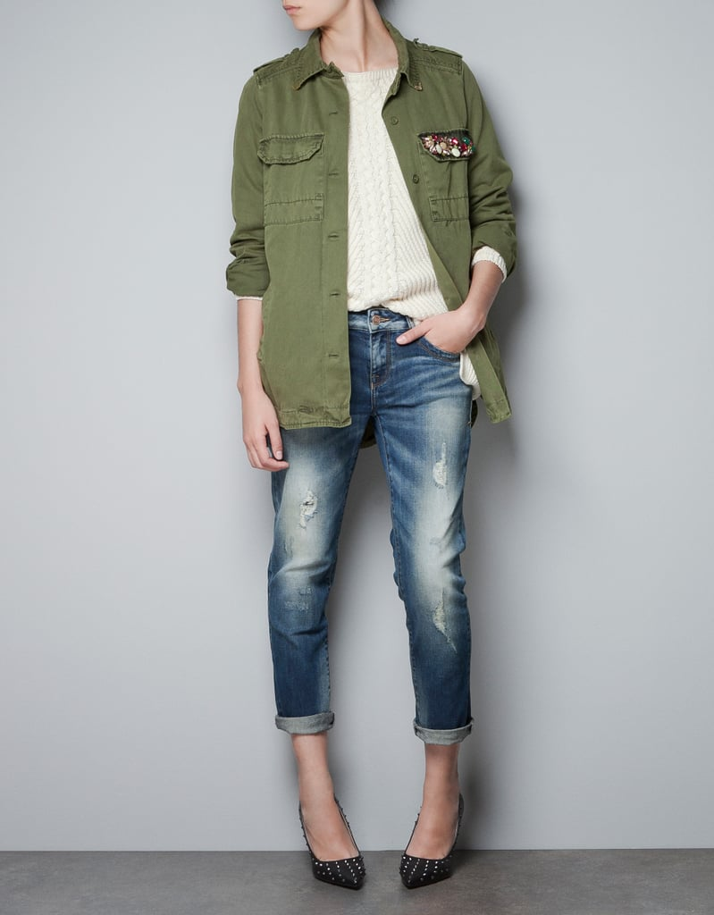 Zara Military Shirt With Embellished Pocket ($50, originally $80)