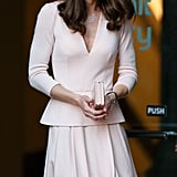 Kate Middleton looked positively stunning as she attended a May exhibition at the National Portrait Gallery in London.