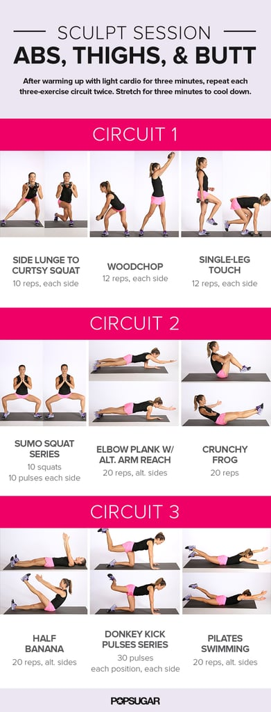 Workout For Abs Butt And Thighs