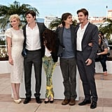 The cast of On the Road posed together for the photocall at the Cannes Film Festival.