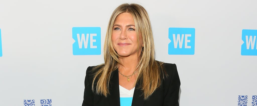 Jennifer Aniston White Sneakers We Day 2018