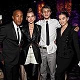 Larry Jackson, Dua Lipa, Anwar Hadid, and Hailee Steinfeld at Clive Davis's 2020 Pre-Grammy Gala