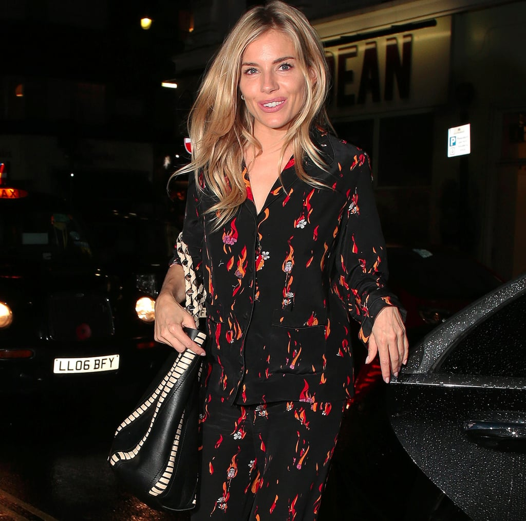Sienna Miller Wears Rockins Pyjamas
