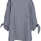 Tibi Gingham Off-the-Shoulder Tunic ($354)