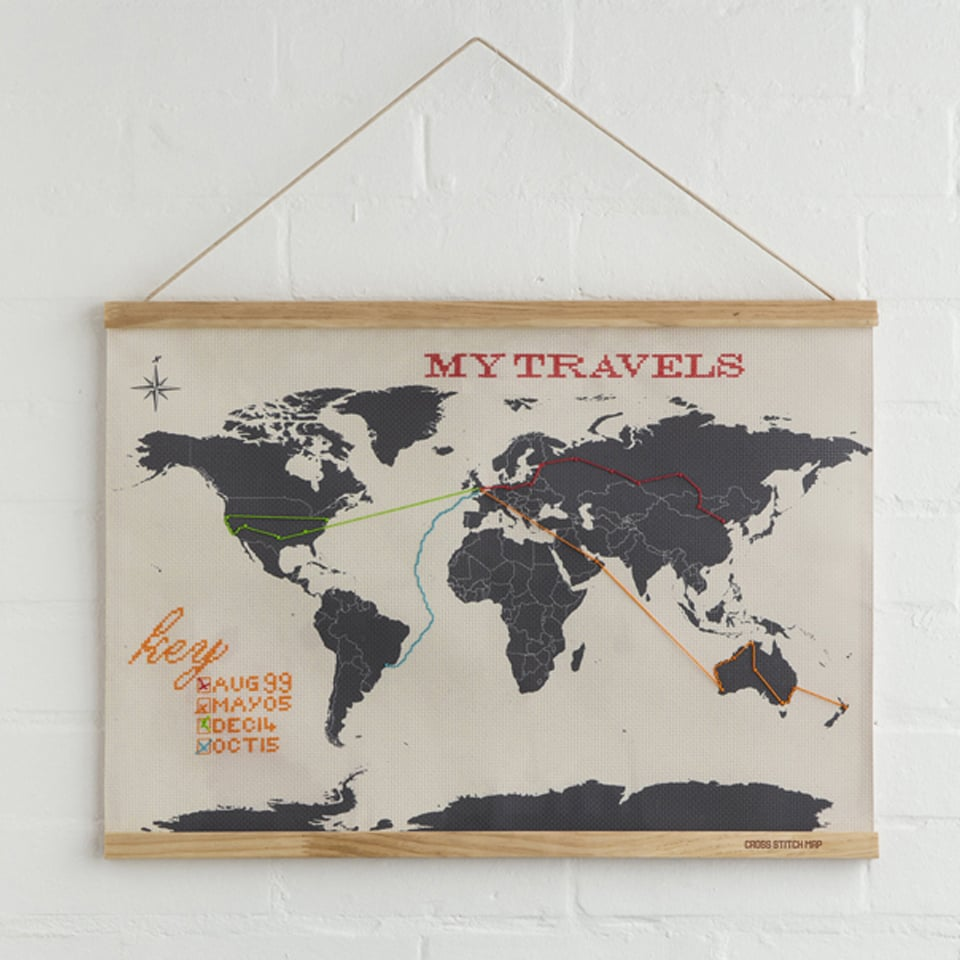Cross Stitch Map