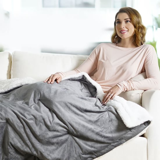 Pure Enrichment Heated Weighted Blanket For Stress Relief