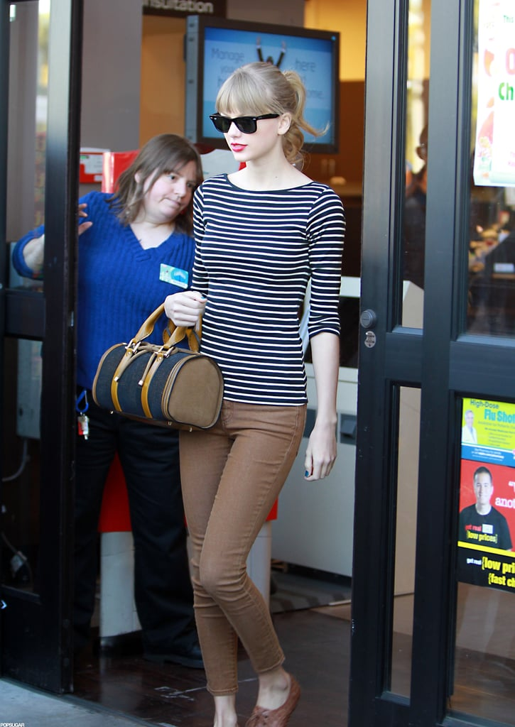Taylor Swift Heads Out of Her LA Home With Harry Styles