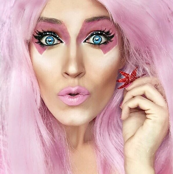 Jem from jem and the holograms halloween makeup transformations jem from jem and the holograms ccuart Images