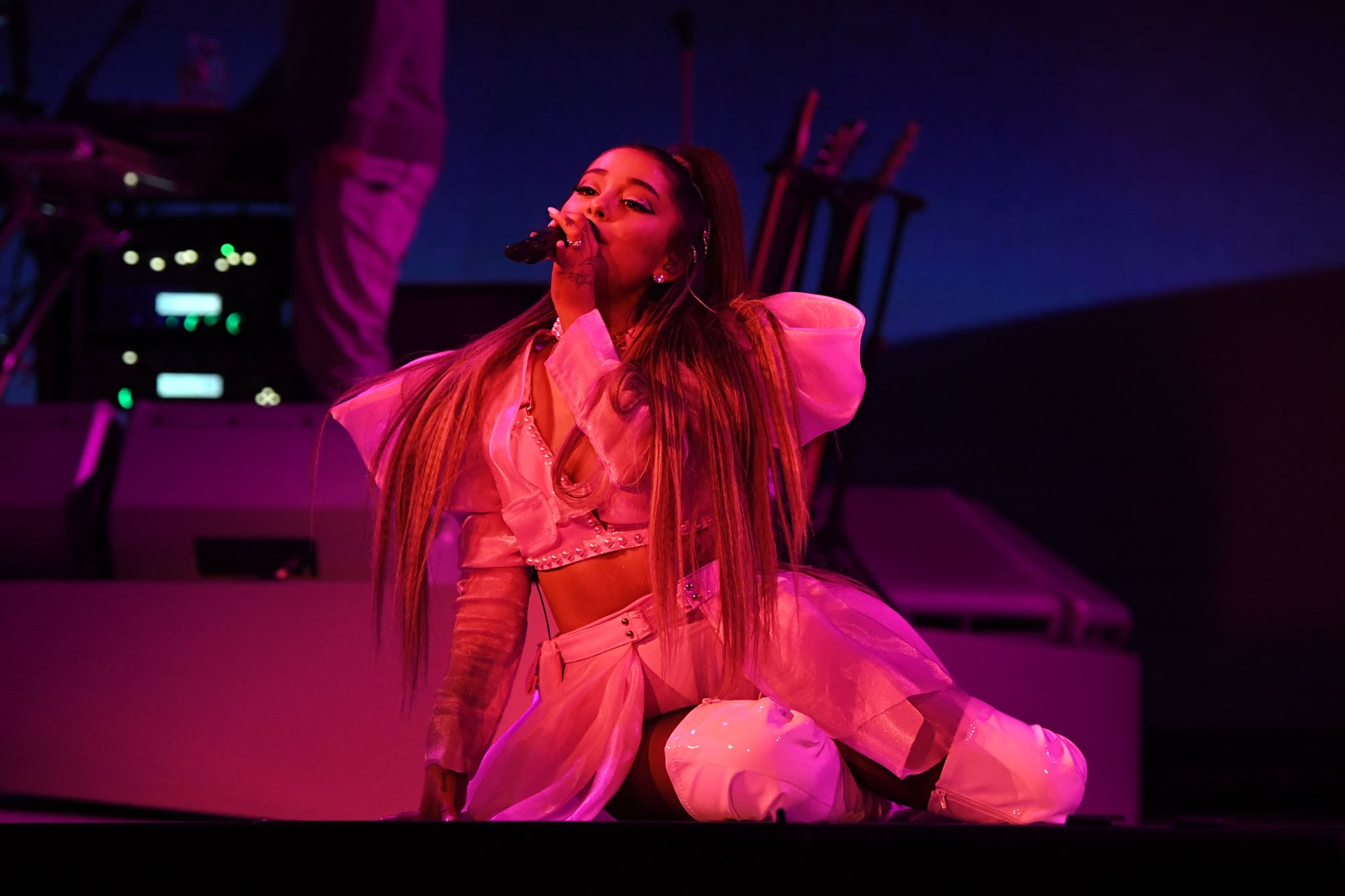 ALBANY, NEW YORK - MARCH 18: Ariana Grande performs onstage during the Sweetener World Tour - Opening Night at Times Union Centre on March 18, 2019 in Albany, New York. (Photo by Kevin Mazur/Getty Images for Ariana Grande)