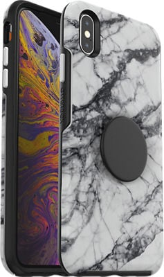 OtterBox Otter + Pop Symmetry White Marble Case