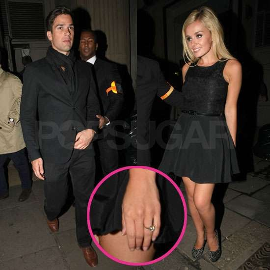 Pictures of Katherine Jenkinss Engagement Ring on Night Out With Fiance Gethin Jones