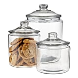 Set of Anchor Hocking Glass Canisters