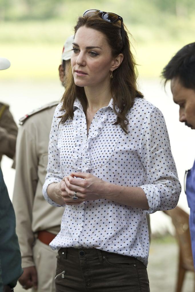 Kate Middleton Wearing Zara Pants In India 2016 Popsugar Fashion