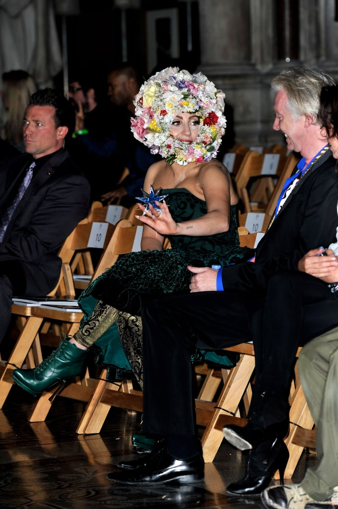 Lady Gaga at Philip Treacy
