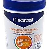 Clearasil Stubborn Acne Control 5-in-1 Daily Facial Cleansing Pads