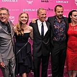 Amanda Seyfried joined Jeffrey Friedman, Rob Epstein, Peter Sarsgaard, and Debi Mazar on the red carpet.