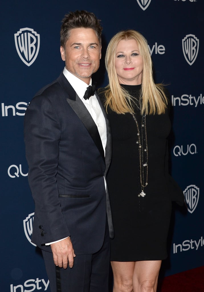 Rob Lowe and Sheryl Berkoff made their way inside.