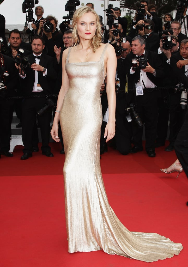 Diane Kruger Wearing Calvin Klein at the Cannes Film Festival in 2011