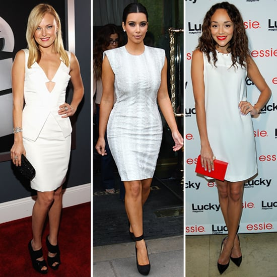 Celebrities in White Dresses and Black Shoes | POPSUGAR Fashion