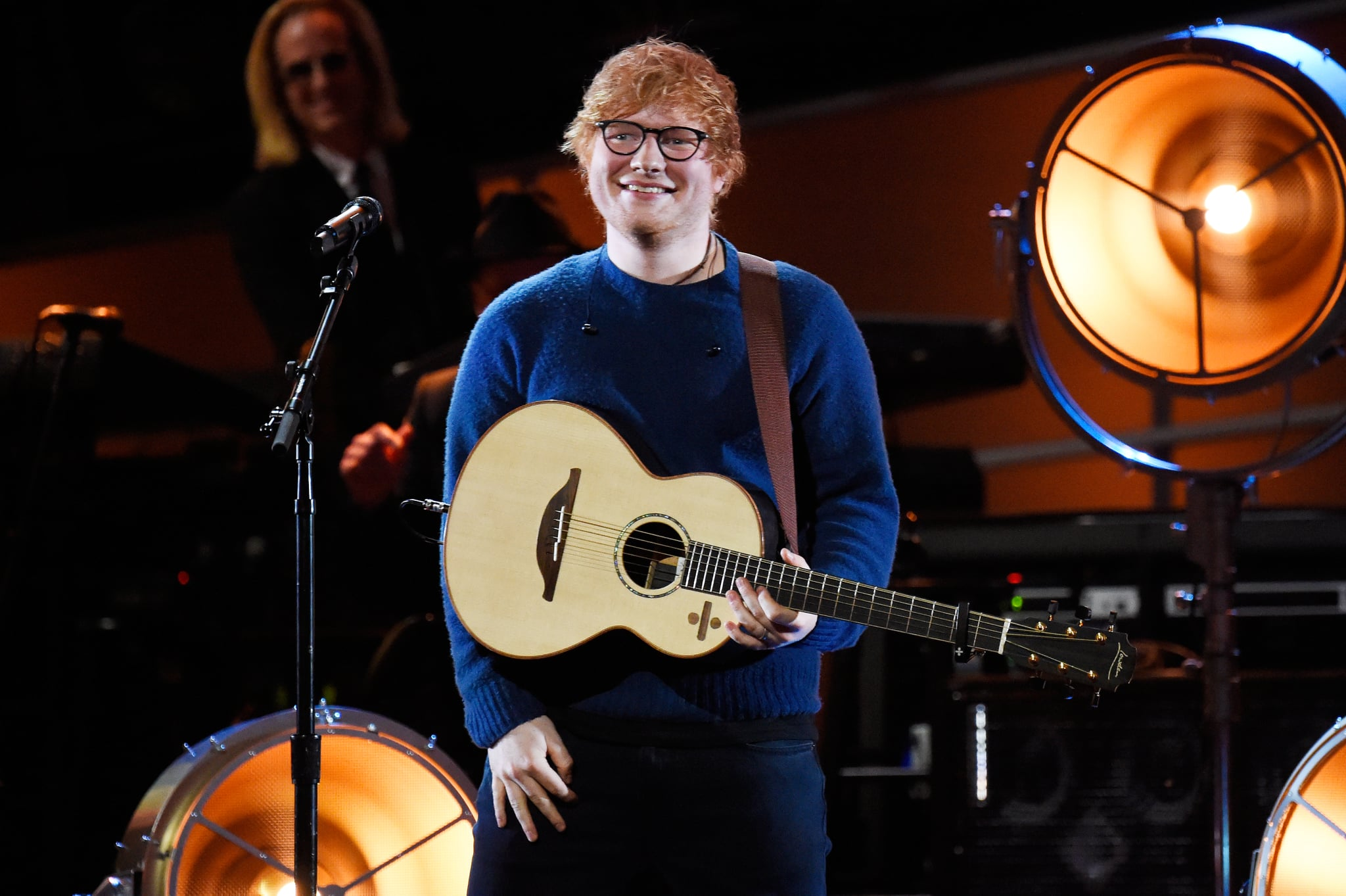 NEW YORK, NY - JANUARY 30:  Recording artist Ed Sheeran performs onstage during 60th Annual GRAMMY Awards - I'm Still Standing: A GRAMMY Salute To Elton John at the Theater at Madison Square Garden on January 30, 2018 in New York City.  (Photo by Kevin Mazur/Getty Images for NARAS)