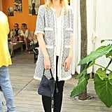 Delphine Arnault at Louis Vuitton's beach barbecue.