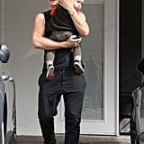 Orlando Bloom took Flynn to a dance class in March 2012.