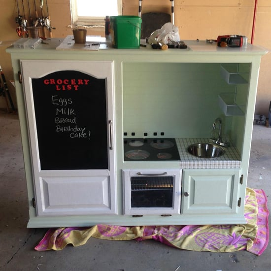 How to Make Kitchen Playset Out of Old Furniture