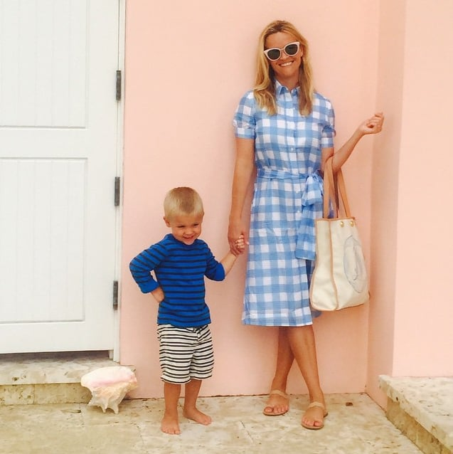 Reese Witherspoon's Blue Checked Dress