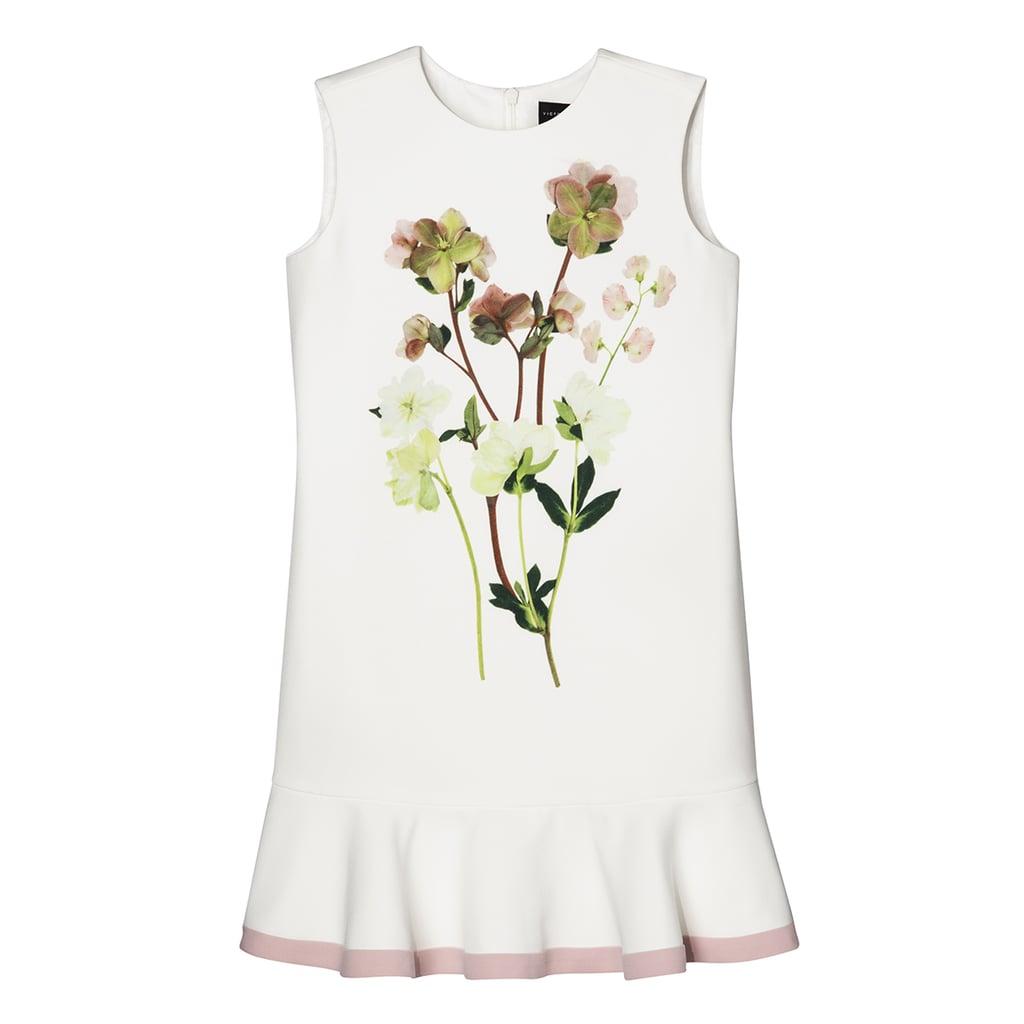 Toddler Girls' Pressed Floral Satin Ruffle Hem Dress  ($23)