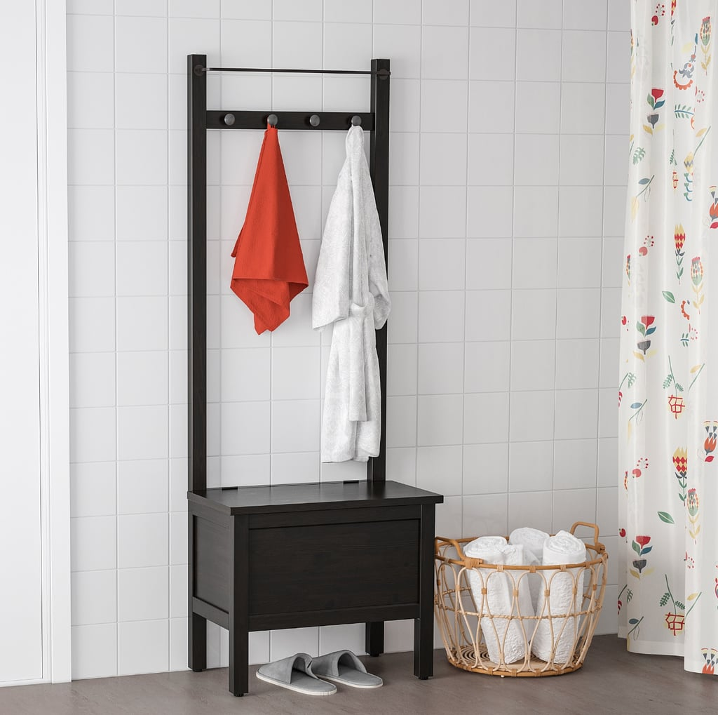 Hemnes Storage Bench With Towel Rail and Hooks
