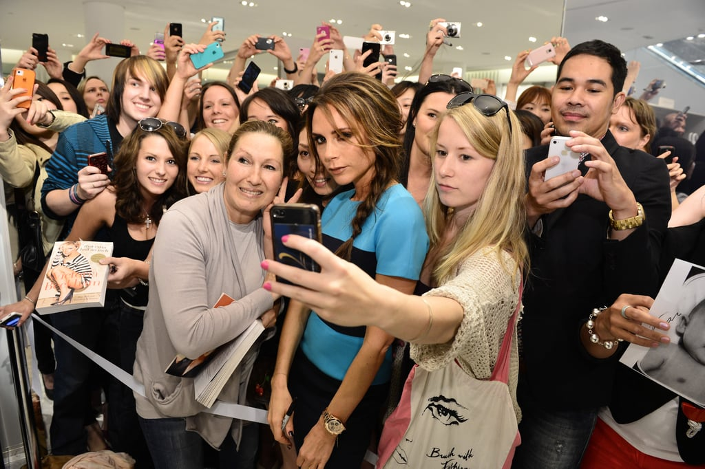 Victoria Beckham spent time with her fans in Vancouver after presenting her collection.