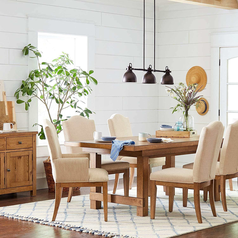 Stone & Beam Parson Farmhouse Dining Room Kitchen Chairs ...