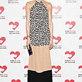 Hilary Rhoda arrived for the God's Love We Deliver event in Michael Kors's colorblock maxidress.
