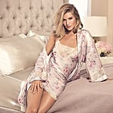 Rosie for Autograph Blur Floral Satin Chemise and Wrap Set ($60)