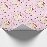 Unicorn Holiday Personalized Wrapping Paper